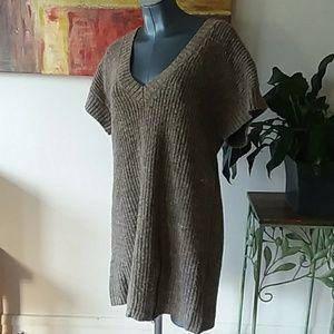 RUFF HEWN wool blend deep v-neck sweater dress